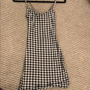 Gingham dress. Worn once. Skintight. Stretchy